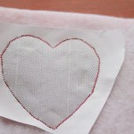 14 sew around the heart