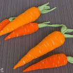 декорация моркови от текстил