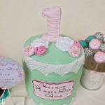 Честит Рожден Ден торта от текстил декорация за парти