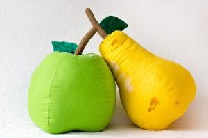 декоративни възглавници плод ябълка круша