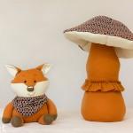 гъби от текстил и играчки за гушкане