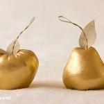 Декоративни ябълки и круши – злато и сребро