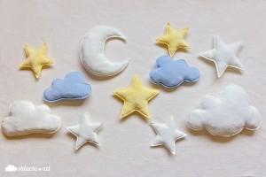 декоративни възглавнички луна звезда облак