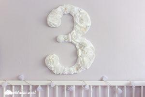 цифра декорация отхартиени цветя